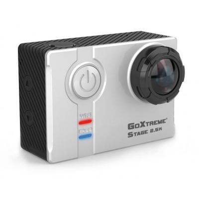 Easypix actiesport camera: GoXtreme Stage 2.5K Ultra HD Stereo Cam - Zwart, Wit