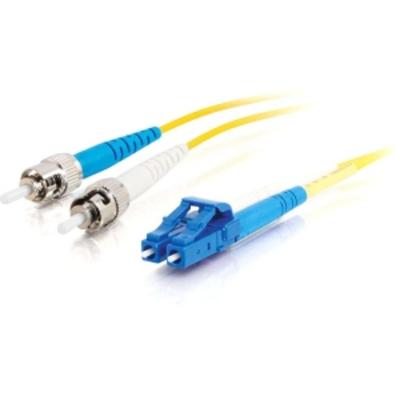 C2G 20m LC-ST 9/125 OS1 Duplex Singlemode PVC Fibre Optic Cable (LSZH) - Yellow Fiber optic kabel