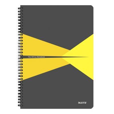 Leitz schrijfblok: Office A4 ruled, 90 p, Cardboard, 225 x 12 x 297 mm, 570 g - Grijs, Geel