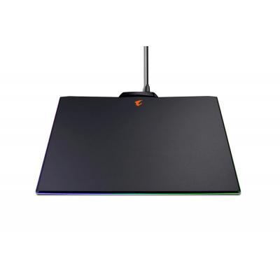 Gigabyte 350 x 240 mm, 16.7 Million Color RGB LED, Micro USB, Plastic, 420g Muismat - Zwart