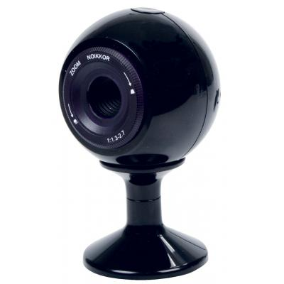 König webcam: Konig, USB Webcam 480k (Black) met Magnetische Clips