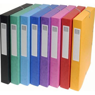 Exacompta archiefdoos: 8 x Glanskarton, A4, 7/10è, 24x32cm, Multi - Multi kleuren