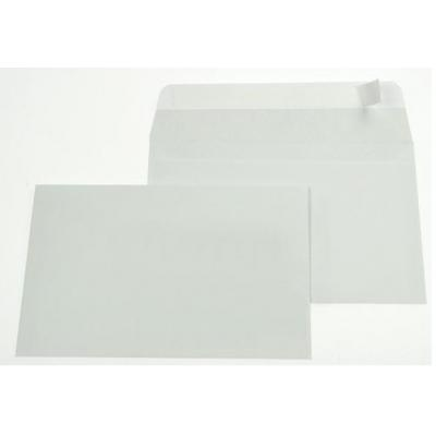 Gallery envelop: Ft 114 x 162 mm (C6) strip, grijze binnenzijde - Wit