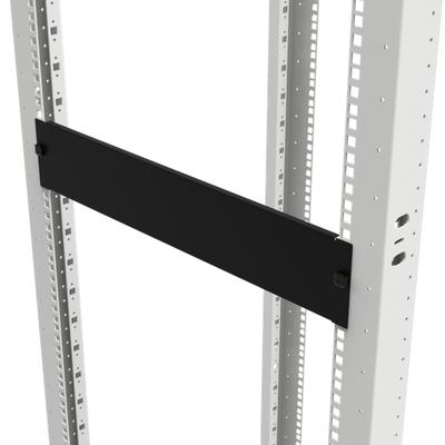 Minkels Front plate, 1U, Black Rack toebehoren - Zwart