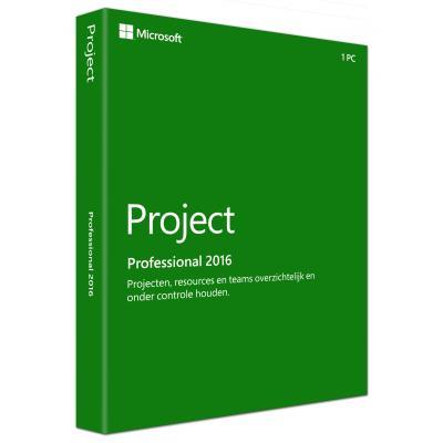 Microsoft software suite: Project Pro 2016 (Dutch)