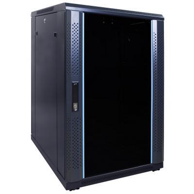 DS-IT 18U serverkast ongemonteerd met glazen deur 600x800x1000mm (BxDxH) Stellingen/racks