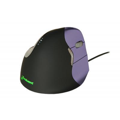 BakkerElkhuizen VerticalMouse 4 USB - Small - Rechtshandig Computermuis - Zwart, Violet