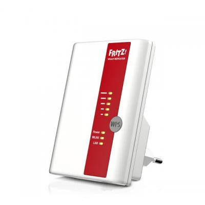 Avm wifi-versterker: FRITZ!WLAN Repeater 450E International - Rood, Wit