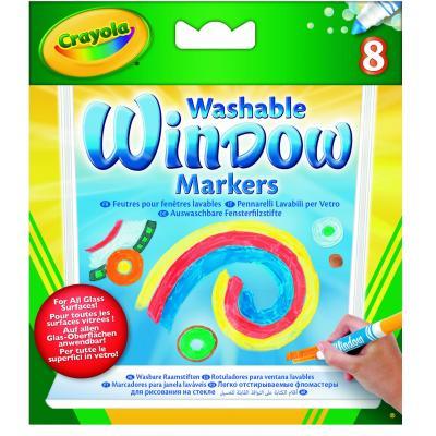 Crayola verf stift: 8 Raamstiften - Multi kleuren