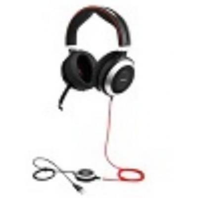 Lenovo headset: Jabra Evolve 80 MS STEREO - Zwart, Rood