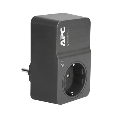 APC Tussenstekker met overspanningsbeveiliging 3680W 1x stopcontact Surge protector - Zwart