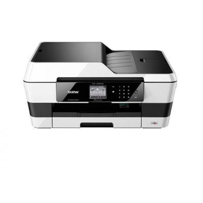 Brother multifunctional: MFC-J6520DW professionele all-in-one A3 kleureninkjetprinter met fax - Zwart, Wit