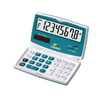 Casio calculator: SL-100NC - Blauw