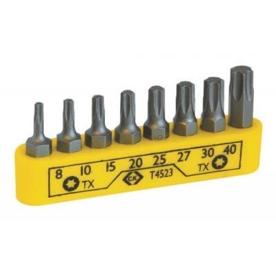 C.k tools handschroevedraaier & set: Screwdriver bit clip set - 8 Piece TX