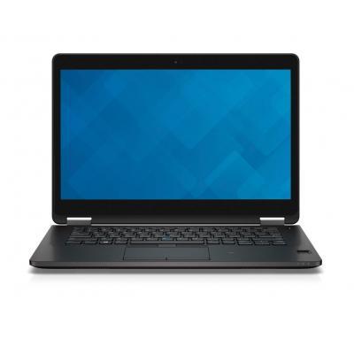 Dell laptop: Latitude E7470 - Core i7 - 8GB RAM - 256GB - Zwart