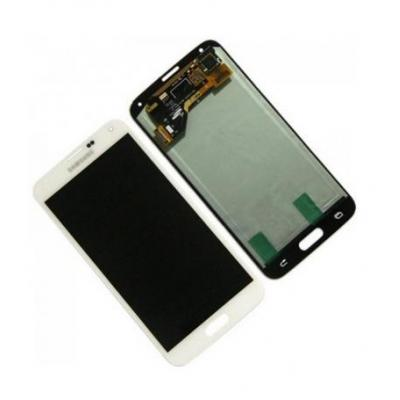 Samsung mobile phone spare part: SM-G900F Galaxy S5, Complete Display LCD+Touchscreen, white