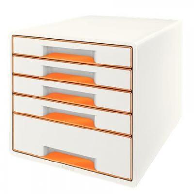 Leitz bureaulade: Wow Cube - Oranje, Wit