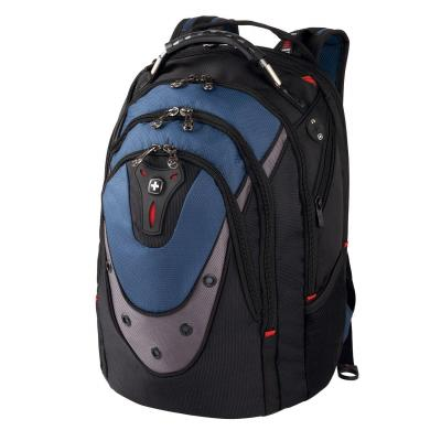 "Wenger/swissgear laptoptas: Backpack IBEX 43.18 cm (17"") for Laptop with Tablet / eReader Pocket, Black / Blue - Zwart, ....."