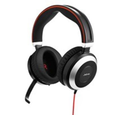Jabra Evolve 80 Stereo Headset - Zwart, Zilver