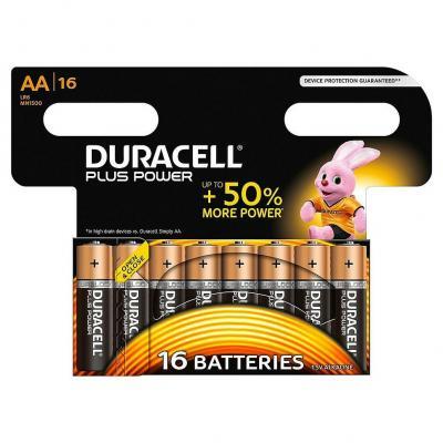 Duracell batterij: 16 x AA, alkaline - Zwart, Goud
