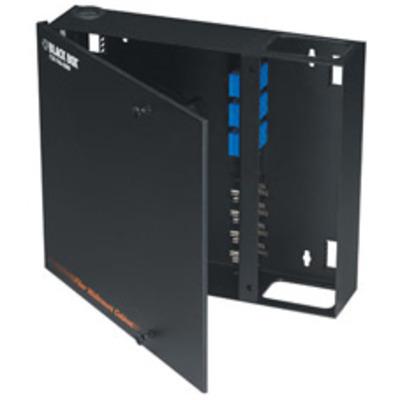 Black Box Fiber Wall Cabinet, Open-Style, Unloaded, Accepts 4 Adapter Panels Kabelgoot - Zwart