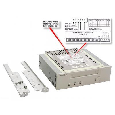 Hewlett packard enterprise tape drive: 4/8GB DAT Drive - Grijs
