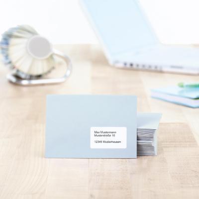 Herma adreslabel: Address labels Premium A4 63.5x33.9 mm white paper matt 2400 pcs. - Wit