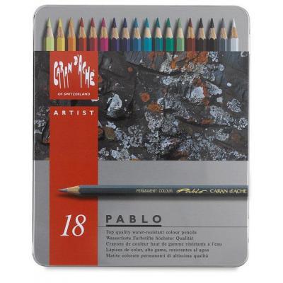 Caran d-ache potlood: Pablo 18 - Grijs, Multi kleuren