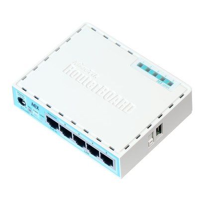 Mikrotik RB750GR3 Router - Turkoois, Wit