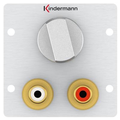 Kindermann 7444000518 Wandcontactdoos - Aluminium