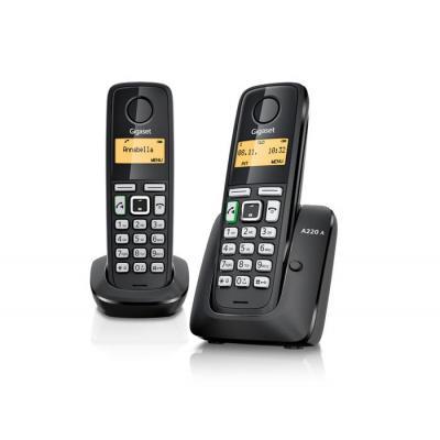 Gigaset dect telefoon: A220A DUO - Zwart