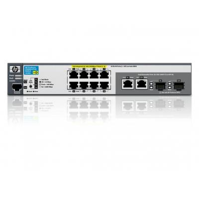 Hewlett Packard Enterprise 2520-8G-PoE Exchange Unit Switch - Zwart