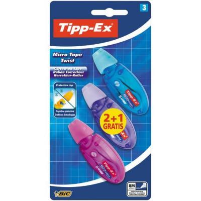 TIPP-EX Micro Tape Twist 2+1 Film/tape correctie - Multi kleuren