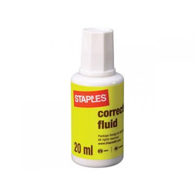 Staples correctievloeistof: Correctiefluid SPLS 20ml
