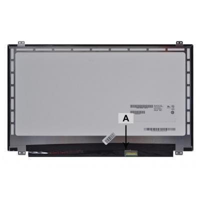 "2-power notebook reserve-onderdeel: 39.624 cm (15.6 "") WXGA 1366x768 HD LED Glossy - Zwart"