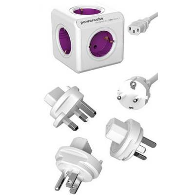 Allocacoc PowerCube ReWirable Stekkerdoos - Paars, Wit