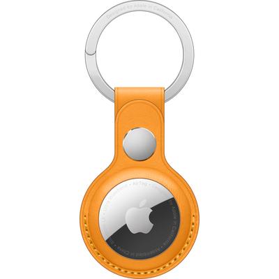 Apple AirTag Leather Key Ring - California Poppy - Geel
