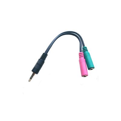 Microconnect Adapter 3.5mm - 2x3.5mm M-F - Zwart