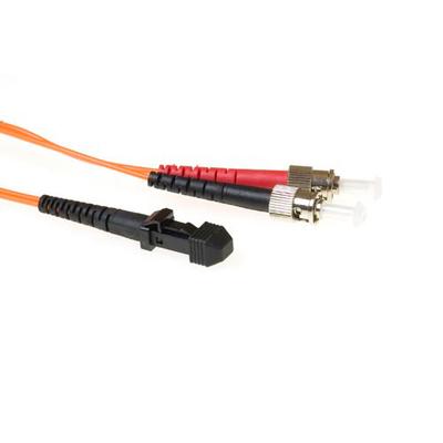 ACT MTRJ - ST 3m Fiber optic kabel - Oranje