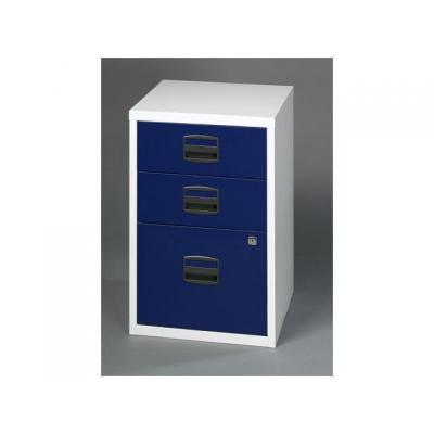 Bisley archiefkast: Ladenkast 3-laden, 2 laag-1hoog,l.gr/bla