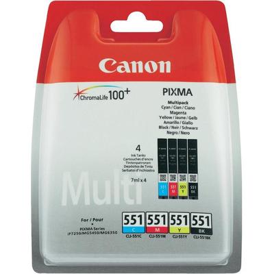 Canon CLI-551 C/M/Y/BK w/sec Inktcartridge - Zwart, Cyaan, Magenta, Geel
