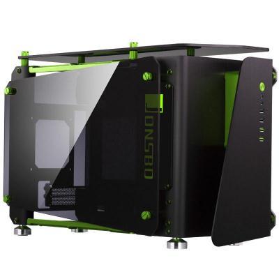 Cooltek MOD1-Mini, Mini-ITX, Aluminum, toughened glass Behuizing - Zwart, Groen