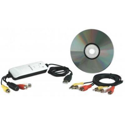 Manhattan : USB Audio/Video Grabber - Zwart, Grijs