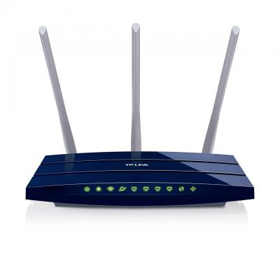 Tp-link wireless router: TL-WR1043ND - Gigabit Ethernet, WLAN, 300Mbit/s, 802.11b/g/n, DHCP, DMZ, SPI - Blauw
