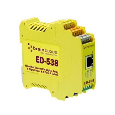 Brainboxes power relay: ED-538 - Geel
