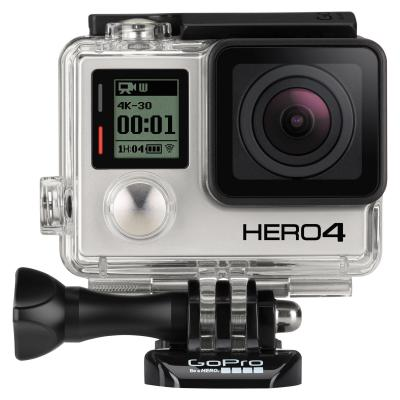 Gopro actiesport camera: HERO4 Black - Zwart, Grijs