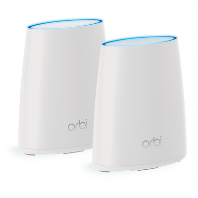 Netgear wireless router: Orbi Mini RBK40 Tri-Band AC2200 Mesh Starter Kit (2-Pack) - Wit