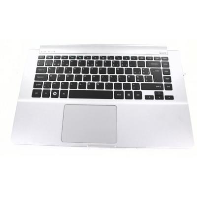 Samsung notebook reserve-onderdeel: Top Case, Silver With Keyboard - Zwart, Zilver