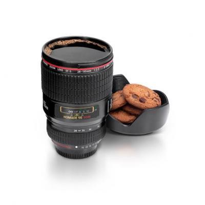 Thumbs up servies: Camera Lens Cup - Black - Zwart