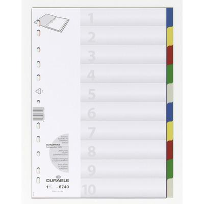 Durable 6740 Indextab - Multi kleuren